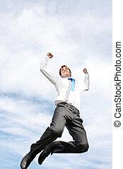 跳躍, ビジネス男