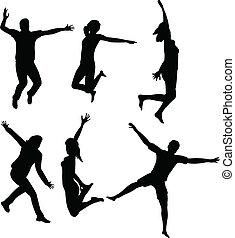 跳躍, 人々