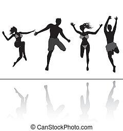 跳躍, 人々, friends.