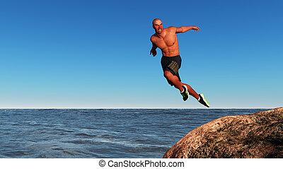跳躍, 人
