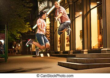 跳躍, 夫婦