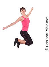 跳躍, 婦女, 重量, 快樂, 健身, 損失