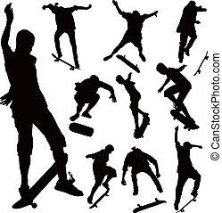 跳躍, 板, スケート