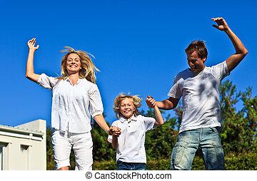 跳躍, 空気, 家族