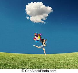 跳躍, 風船