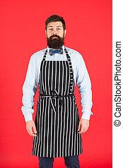 身に着けていること, あごひげを生やしている, servant., バーテンダー, service., ウエーター, 料理, よだれ掛け, ∥あるいは∥, 優雅である, コック, apron., entirely, 人, あなたの, 口ひげ, ひげ