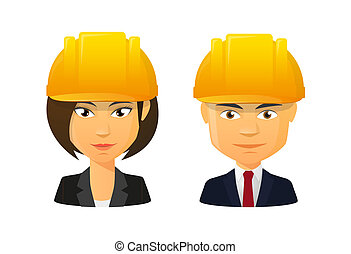 身に着けていること, セット, 人々, 仕事, avatar, 帽子