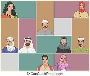 身に着けていること, 伝統的である, muslim, 人々