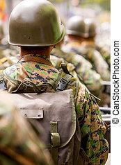 身に着けていること, 兵士, 衣類, グループ, カモフラージュ