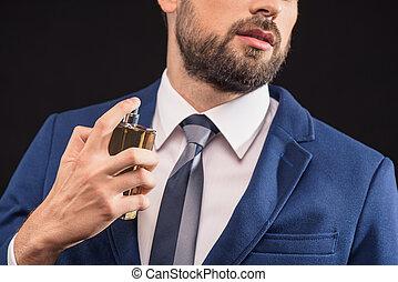 身に着けていること, 喜び, におい, 魅力的, ビジネスマン