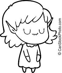 身に着けていること, 妖精, 女の子, 服, 漫画, 幸せ