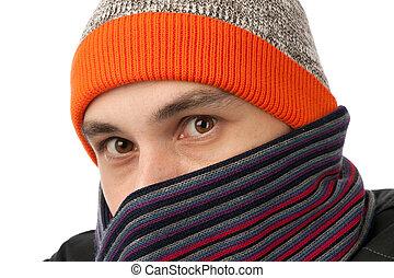 身に着けていること, 帽子, スカーフ, 人