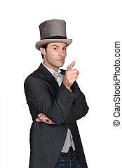 身に着けていること, 帽子, 人