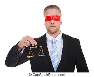 身に着けていること, 正義, 目隠し, 弁護士, スケール
