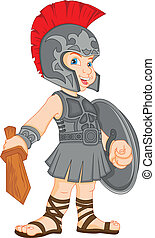 身に着けていること, 男の子, ローマ人, 衣装, 兵士