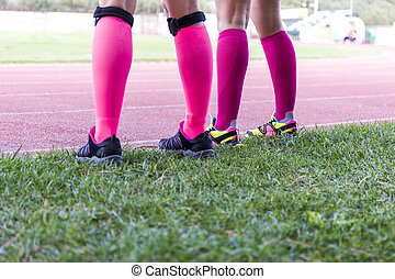 身に着けていること, 装置, 足, スポーツ, 女性
