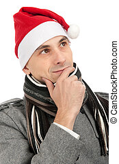 身に着けていること, claus, 帽子, santa, 人