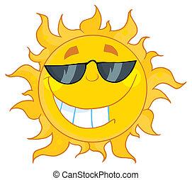 身に着けている陰, 太陽, 涼しい