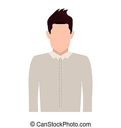 身体, 外套, 人, 侧面影象, 一半