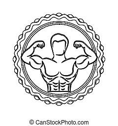 身体, 邮票, 一半, 肌肉, 边界, 轮廓, 人
