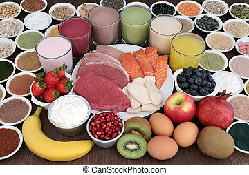 身體建築物, 保健食品, 以及, 喝