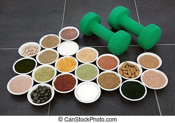 身體建築物, 粉, 以及, 維生素補充