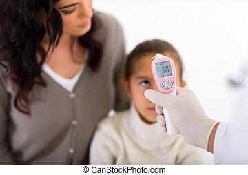 身體, 很少, 病人, 溫度, 醫生, 檢查, 醫學