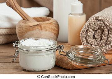 身體, 肥皂, 奶油, 香波,  Toiletries, 房間, 成套用具, 礦泉, 毛巾, 關心