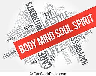 身體, 頭腦, 靈魂, 精神, 詞, 雲
