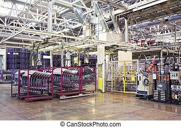 車の工場, ロボット