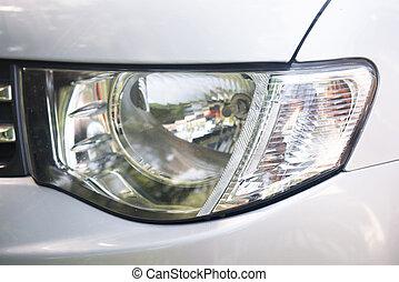 車の 部品, ヘッドライト, クローズアップ