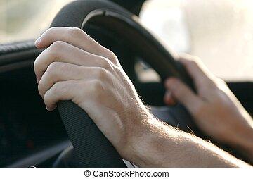 車を運転すること