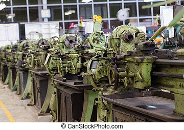 車床, 老, 機器