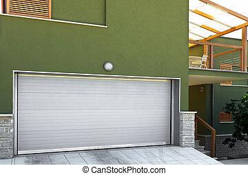 車庫, 在, a, 現代, 家