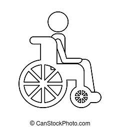 車椅子, ∥で∥, 患者, アイコン