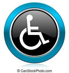 車椅子, グロッシー, アイコン