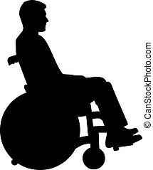 車椅子, シルエット