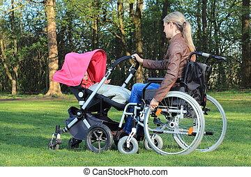 車椅子, 乳母車, 母