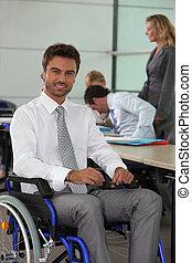 車椅子, 仕事, 人