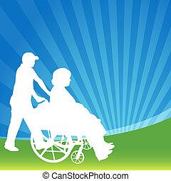 車椅子, 女性
