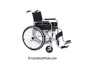 車椅子, 白い背景, 隔離された