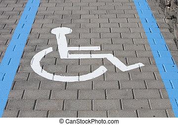 車椅子, 車線