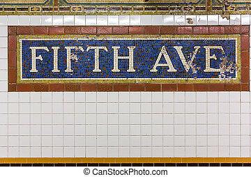 車站, 大道, 地鐵, 第五