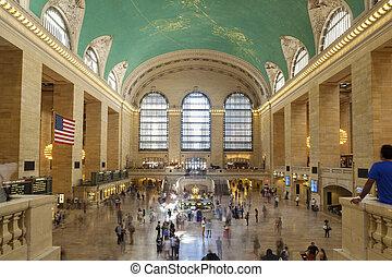 車站, nyc, 中央, 盛大