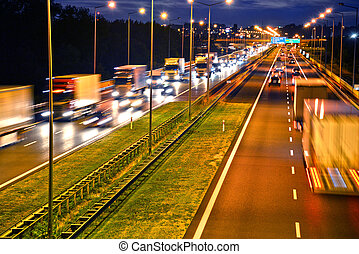 車線, ハイウェー, 4, ポーランド, controlled-access