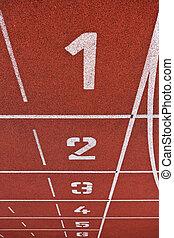 車線, 数, スポーツ, 運動競技, -, 概念, トラック, グラウンド