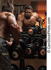 車身制造者, 做, 重, 重量, 練習, 為, 背