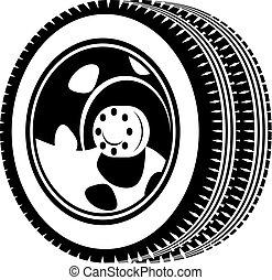 車輪, イラスト