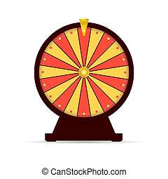 車輪, ギャンブル, 幸運, イラスト