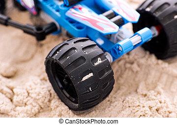 車輪, クローズアップ, レーサー, オフロード, 砂